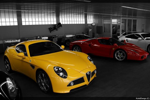 Alfa Romeo 8c Amp Ferrari Enzo Flickr Photo Sharing