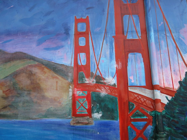 Mural Monday: Golden Gate Bridge (Sunset Recreation Center)