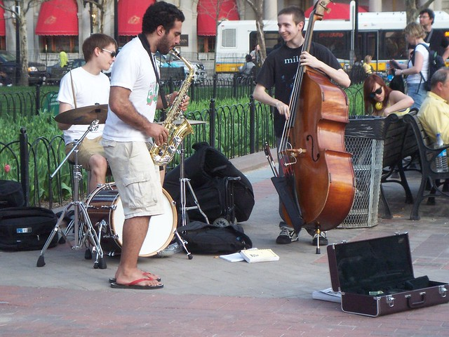 an improv jazz trio