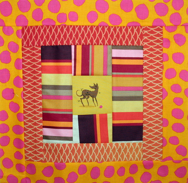 doggy blocks- orange and pink