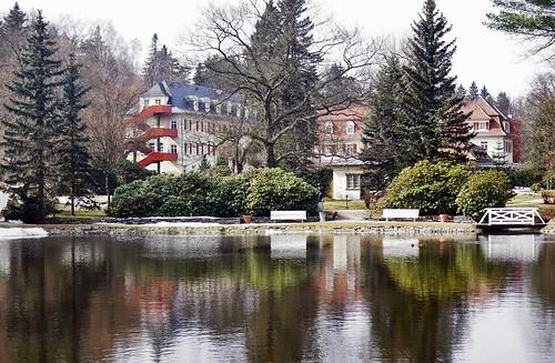 Im Kurpark von Bad Brambach / In the health resort park of bath Brook Bram