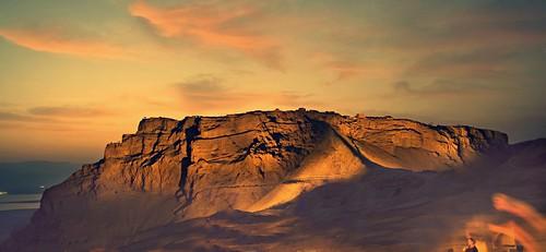 A M's photo of Masada at twilight.
