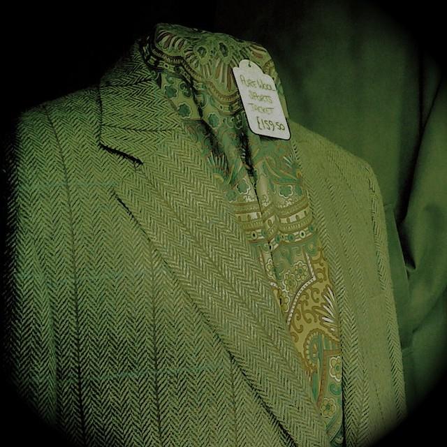 Jacket in shop window, Lewes