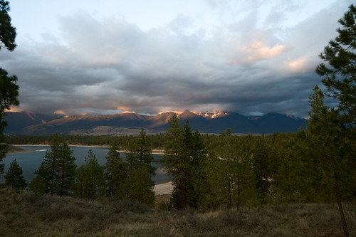light sunset sky usa lake mountains water clouds landscape evening spring montana dusk dramatic rocky april eureka