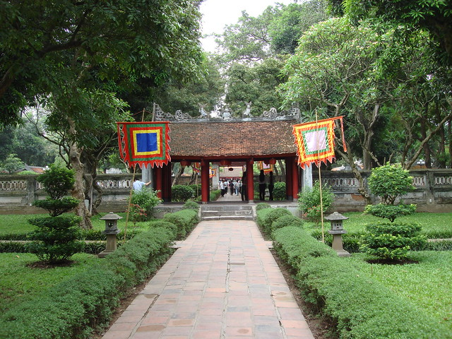 First courtyard - Van Mieu gate - Temple of Literature (Van Mieu)
