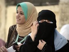 Arab niqab girls & women