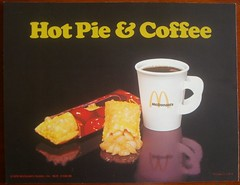 1976 McDonald's Hot Pie & Coffee sign