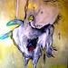Fairy, 2008, olio e smalti su tela, cm 120x160