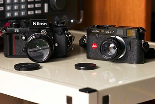 Nikon F3 And Leica M4-P, May, 2010