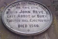 Photo of John Reve stone plaque