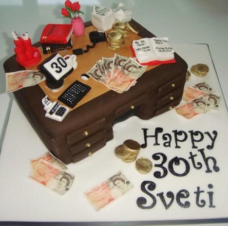 accountant cake