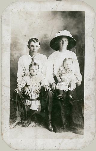 Studio Portrait of a family