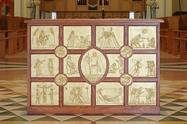 Saint Meinrad Archabbey, in Saint Meinrad, Indiana, USA - altar