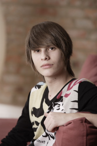 ... CANADA - April 2010 -Model released photo of a 15 years old emo teen boy