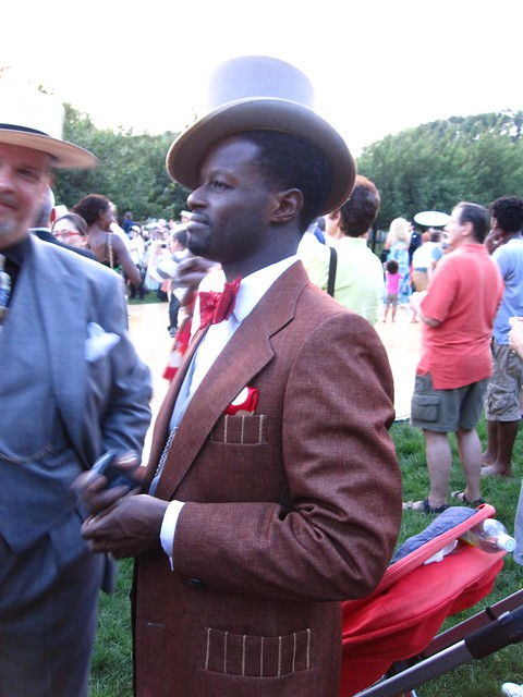 A very dapper gentleman enjoying BBG Members' Centennial Evening. Photo by Rebecca Bullene.