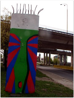 "Pillar of the neverending bridge part - after ""renovation"" :)) Szczecin, Poland."