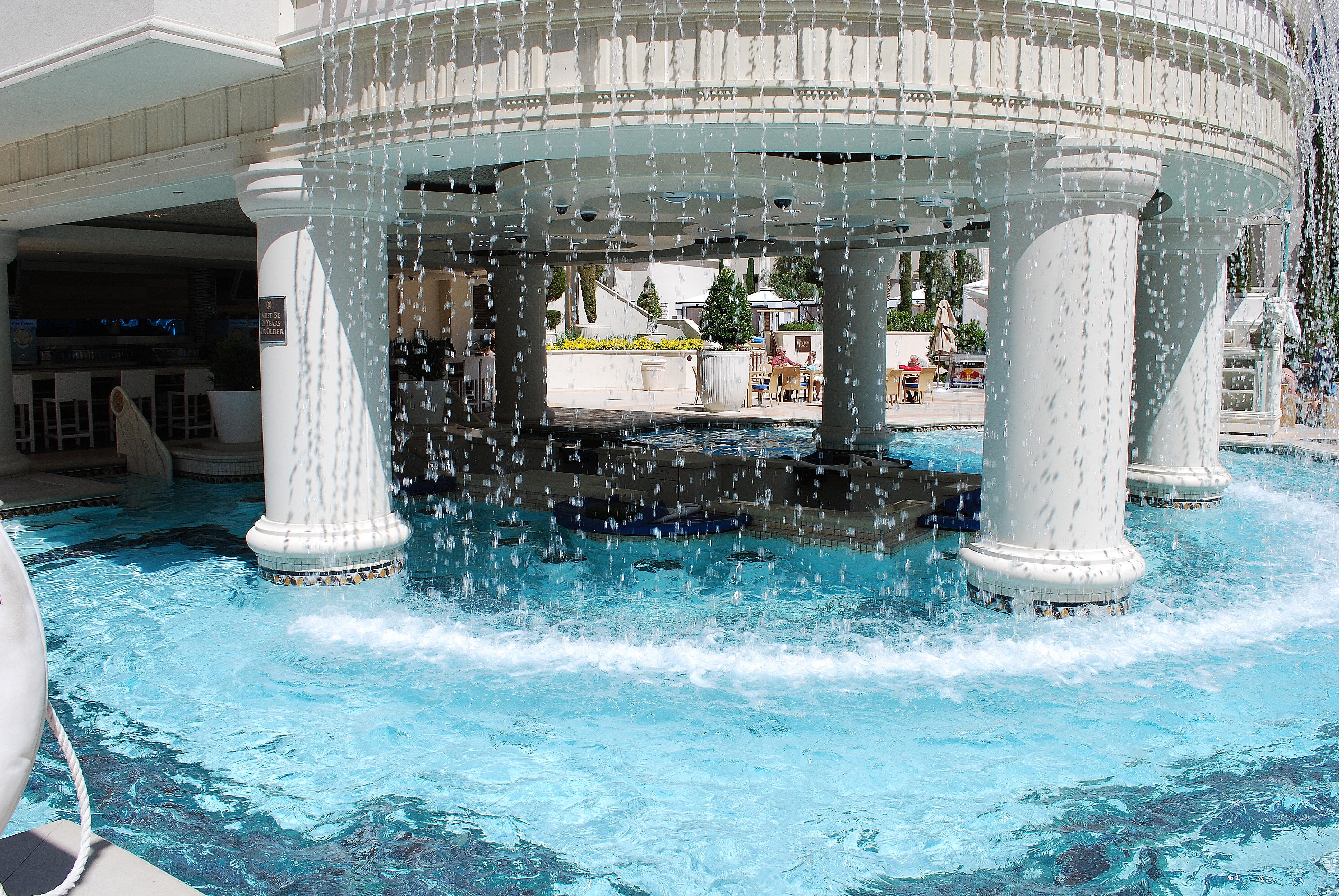 Caesars palace las vegas pool flickr photo sharing for Caesars swimming pool