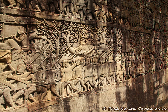 Carvings at Bayon