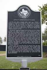 Photo of Apelt Armadillo Farm, Charles Apelt, and Martha Apelt black plaque