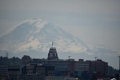 Hazy Morning Mount Rainier