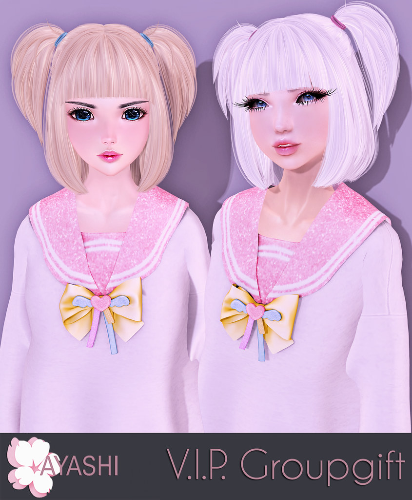 [^.^Ayashi^.^] Melli hair V.I.P. group gift - SecondLifeHub.com