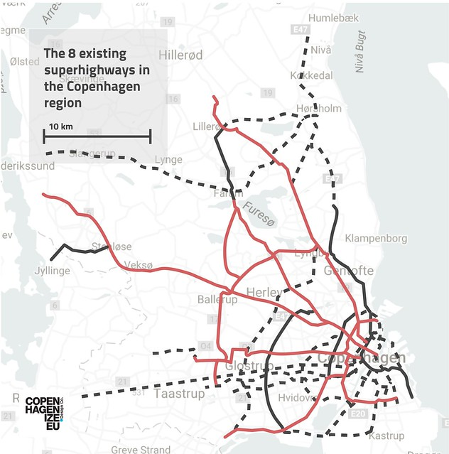 Copenhagen Capital Region Bicycle Superhighway Network