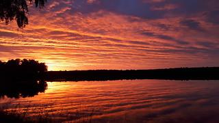 Fiery Färsjön Sunrise