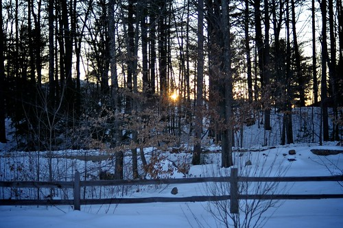 christmas winter sunset newhampshire warner