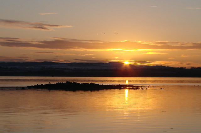 Sun Setting Over the Forth