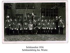 1936, Schützenfest, Schützenkönig Josef Wiertz, Königin Maria, SW041