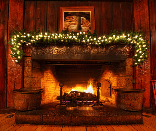 Christmas Fireplace Scene Clip Art Viewing Gallery
