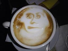 salep(0.0), cappuccino(1.0), flat white(1.0), cup(1.0), mocaccino(1.0), cortado(1.0), coffee milk(1.0), caf㩠au lait(1.0), coffee(1.0), ristretto(1.0), caff㨠macchiato(1.0), drink(1.0), latte(1.0), caffeine(1.0),