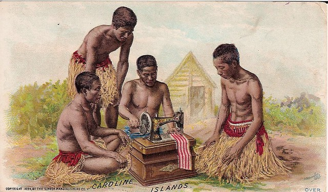Singer Sewing Machine trade card, 1894, Caroline Islands