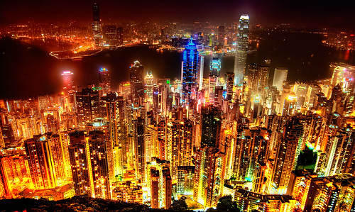 Hong Kong Skyline by Sprengben [why not get a friend]