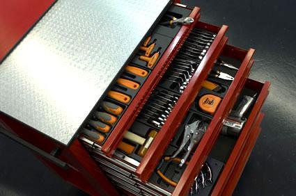 Vista del carro de herramientas