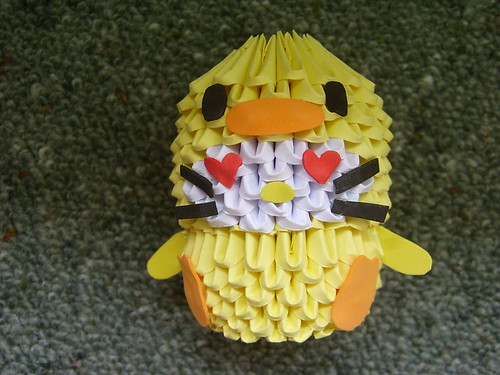 Paper Duck 3 Photos | 3d origami hellokitty in duck suit | 177
