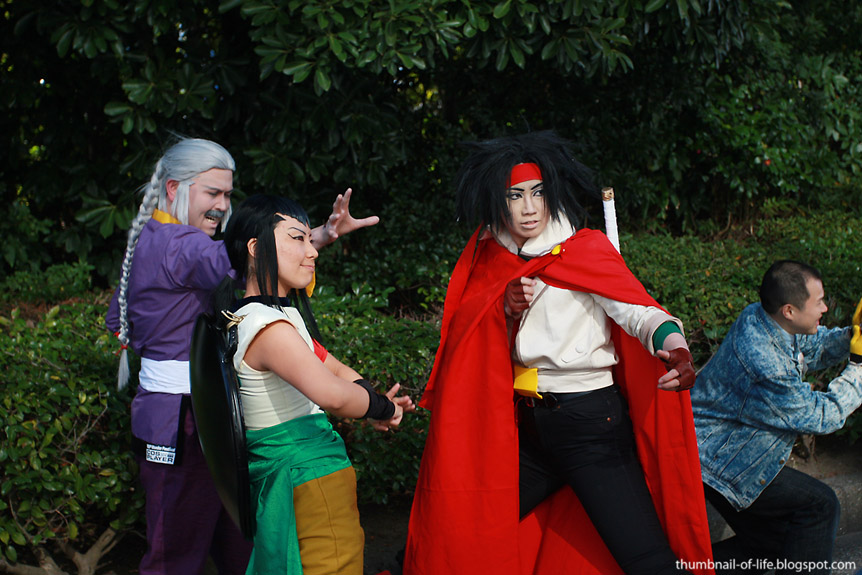 G gundam cosplay for Domon we the theme