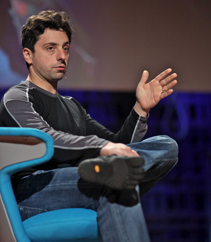 Sergey Brin in FiveFingers