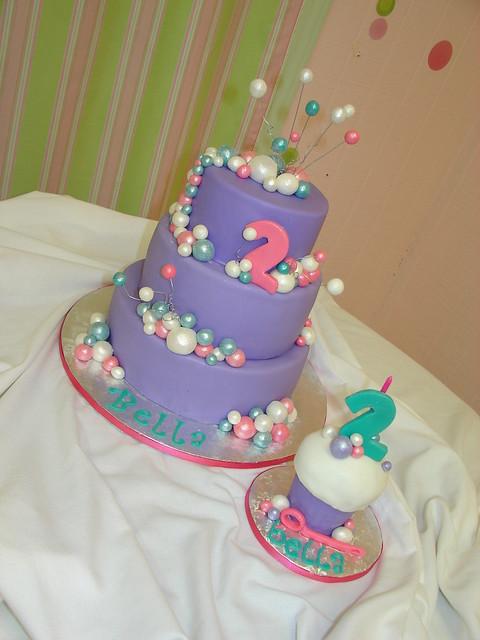 Bubbles Birthday Cake and Oversized Smash Cupcake