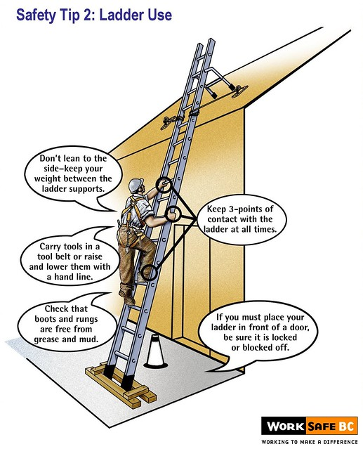Ladder safety tip 2 ladder use flickr photo sharing for Ladder safety tips