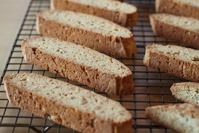 Almond lavender biscotti