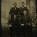 Tintype 4 Men Holding Hats
