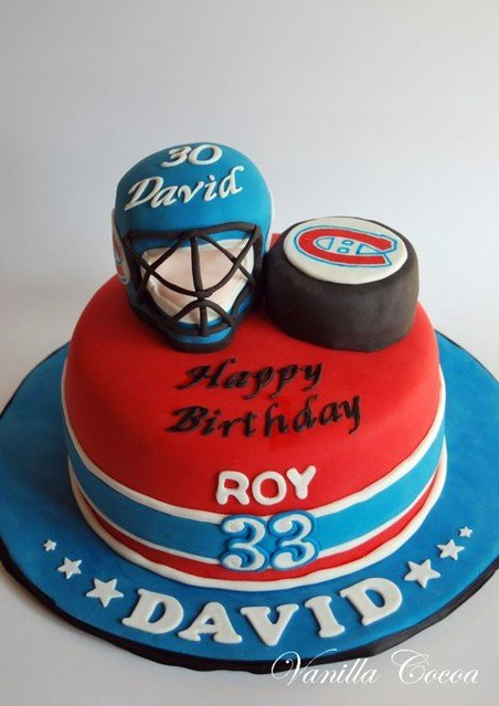 Hockey Cake Birthday Boy Is A Super Huge Fan Of The Habs