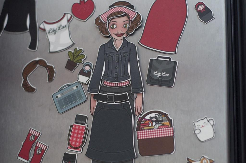Foto der Lily Lux Magnete oder Kühlschrankmagneten von Iris Luckhaus