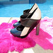 pierre hardy shoes by the pool platform heels