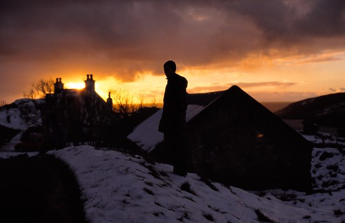 sunset sky people snow silhouette zeiss portraits landscape scotland dusk places contax darcy aria polin flickrcollections
