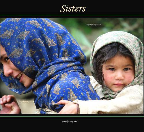Sisters, Ladakh, Jammu & Kashmir, India - 31.08.09