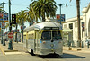 SF Muni Line F - PCC Car 1060 on Embarcadero at Pier 31 by Mega Anorak