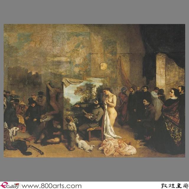 库尔贝--画室 / 世界名画