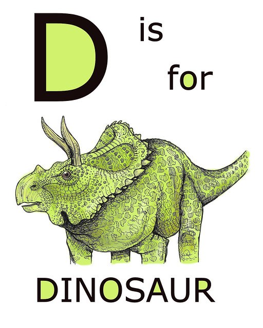d is for dinosaur coloring pages - photo #32